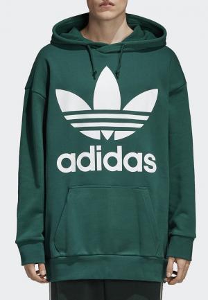 Худи adidas Originals. Цвет: зеленый