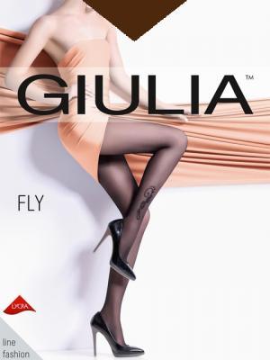 Фантазийные колготки FLY 73, 2 пары (20 ден) Giulia. Цвет: коричневый