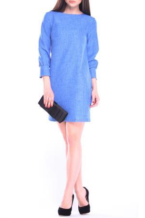 Лаконичное платье прямого покроя Laura Bettini. Цвет: электрик