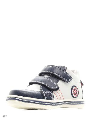 Ботинки Makfly. Цвет: белый, синий
