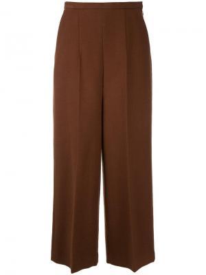 Широкие брюки Enföld. Цвет: коричневый