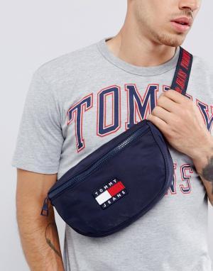 Tommy Jeans Темно-синяя сумка-кошелек на пояс с логотипом в стиле 90-х. Цвет: темно-синий