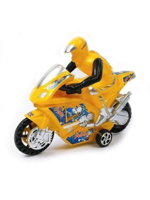 Мотоциклист Азбука Тойс. Цвет: желтый
