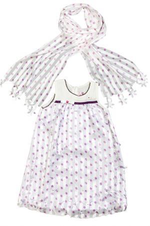 Платье, шарф Lilax Baby. Цвет: фиолетовый
