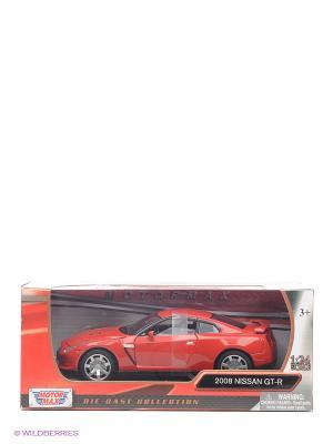 Машинка коллекционная 1к24 2008 Nissan GTR Motormax. Цвет: красный