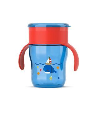 Взрослая чашка Philips Avent SCF782/20, 260 мл, 9 мес.+. Цвет: красный, синий