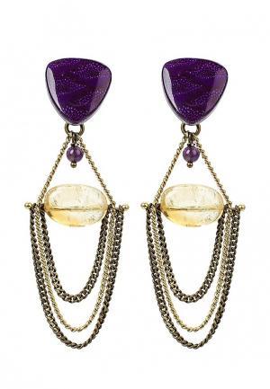 Серьги Nature bijoux. Цвет: фиолетовый