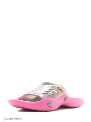 Женские тапки STANDART II Mad Wave. Цвет: серый, розовый