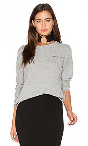 Мягкий топ пуловер Stillwater. Цвет: серый