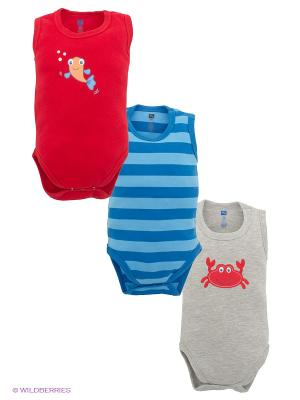 Комплект Hudson Baby. Цвет: синий, красный, серый