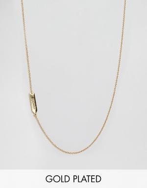 Gorjana Асимметричное ожерелье с подвеской Водолей. Цвет: золотой