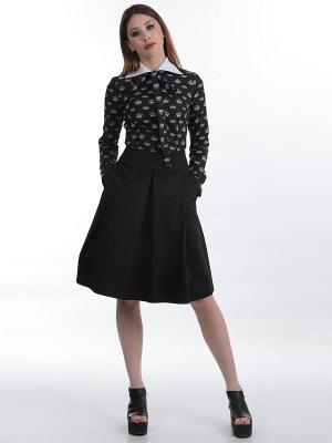 Блуза ЭНСО. Цвет: черный