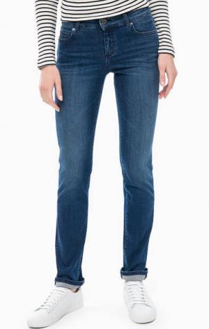 Зауженные джинсы со средней посадкой Marc O'Polo. Цвет: синий