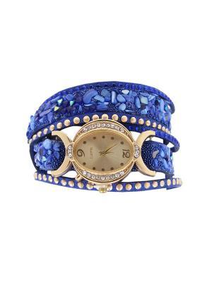 Браслет-часы Olere. Цвет: синий, золотистый