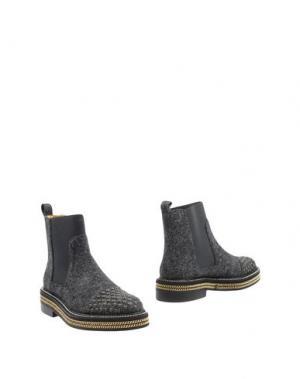 Полусапоги и высокие ботинки RAS. Цвет: свинцово-серый