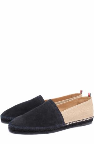 Комбинированные эспадрильи на джутовой подошве Castaner. Цвет: темно-синий