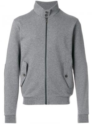 Легкая куртка на молнии Z Zegna. Цвет: серый