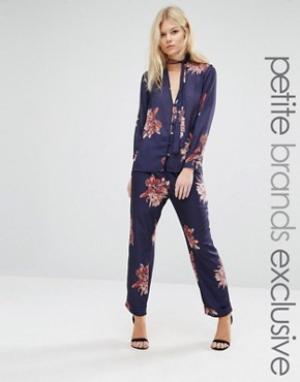 Alter Petite Пижамные штаны с цветочным принтом. Цвет: мульти