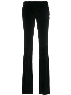 Расклешенные брюки в тонкую полоску Barbara Bui. Цвет: чёрный