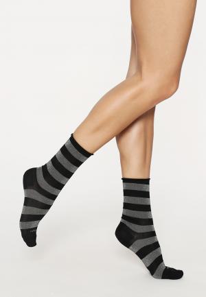 - Shiny Stripe Носки Чёрный / серебристый Burlington