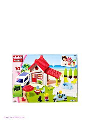 Игровой набор  Загородный дом Ecoiffier. Цвет: красный, зеленый, серый, голубой