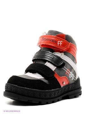 Ботинки Bebendorff. Цвет: серый, красный