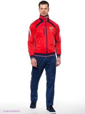 Спортивный костюм ADDIC. Цвет: синий, красный, белый