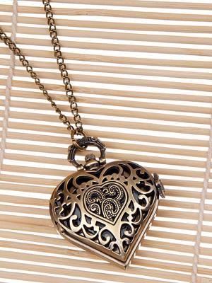 Кулон-часы Кружевное сердце Mitya Veselkov. Цвет: бронзовый