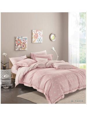 Комплект постельного белья ROMEO AND JULIET. Цвет: бледно-розовый, белый, розовый