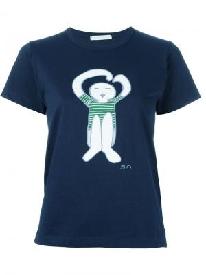 Футболка Da Hug Société Anonyme. Цвет: синий