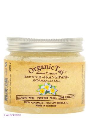 Соляной скраб  Франжипани Organic Tai. Цвет: желтый