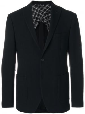 Пиджак с контрастной подкладкой Tonello. Цвет: чёрный