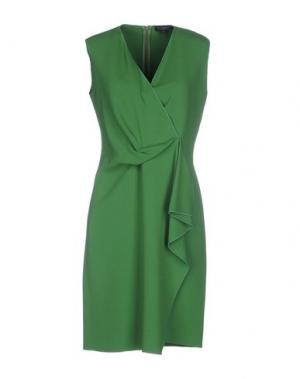 Короткое платье ANTONELLI. Цвет: зеленый