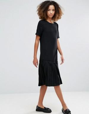 YMC Платье с заниженным краем Basic. Цвет: черный