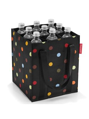 Сумка-органайзер для бутылок Bottlebag dots Reisenthel. Цвет: черный