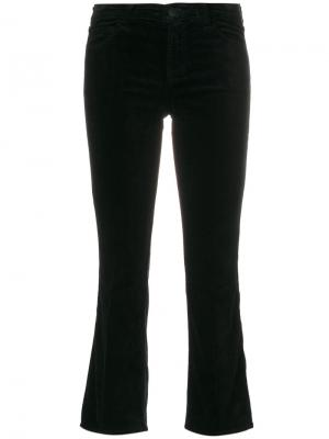 Укороченные брюки клеш J Brand. Цвет: чёрный