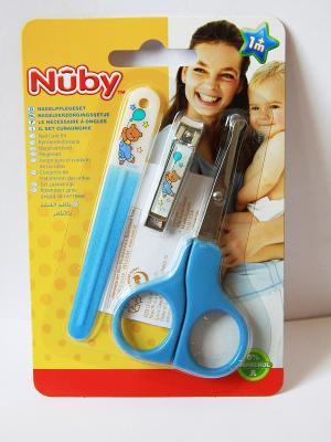Маникюрный набор для малыша NUBY. Цвет: голубой