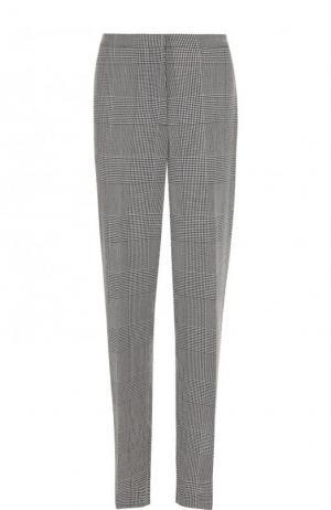 Шерстяные брюки прямого кроя со стрелками Golden Goose Deluxe Brand. Цвет: черно-белый