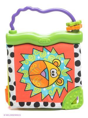 Мягкая игрушка книжка Зоопарк Playgro. Цвет: оранжевый, белый, зеленый