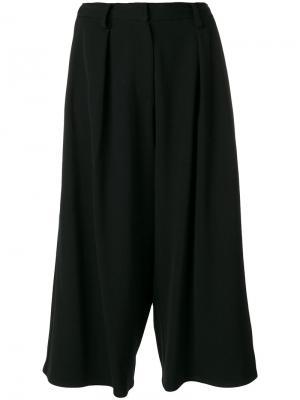 Свободные укороченные брюки Dusan. Цвет: чёрный