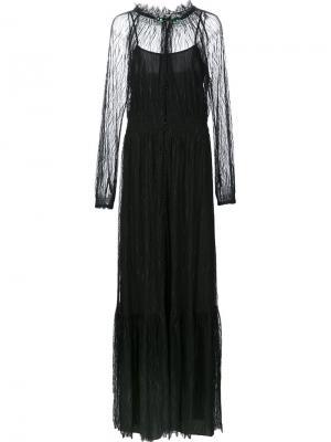 Длинное платье Carly Zac Posen. Цвет: чёрный