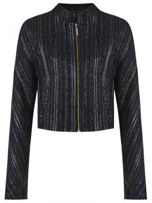 Metallic tweed jacket Giuliana Romanno. Цвет: синий