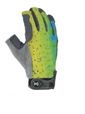 Перчатки рыболовные BUFF Pro Series Fighting Work Gloves Dorado (желтый/синий/зеленый). Цвет: желтый, серый