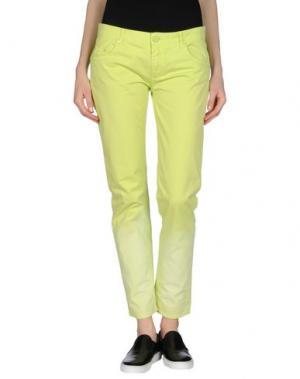 Повседневные брюки CRISTINAEFFE COLLECTION. Цвет: кислотно-зеленый