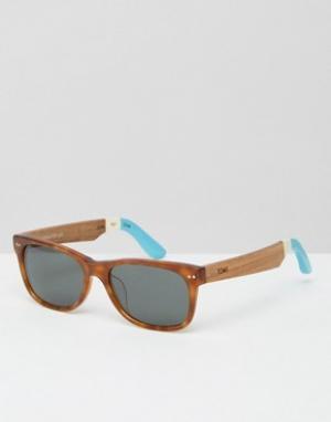 Toms Солнцезащитные очки в квадратной оправе Beachmaster. Цвет: коричневый