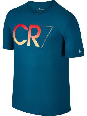 Футболка RONALDO M NK TEE Nike. Цвет: синий