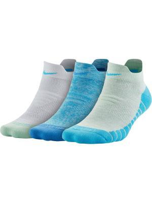 Носки W NK DRY CUSH LOW GFX 3PR-STMT Nike. Цвет: голубой, синий