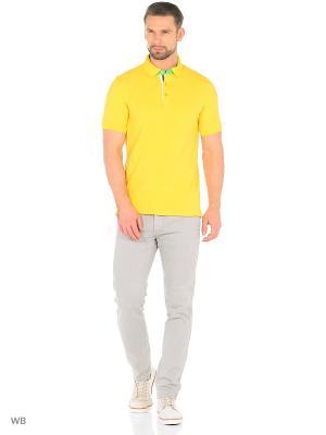 Футболка-поло Donatto. Цвет: светло-желтый