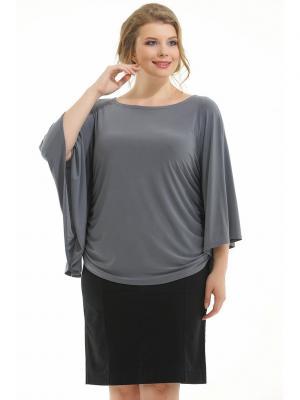 Блузка Pretty Woman. Цвет: темно-серый