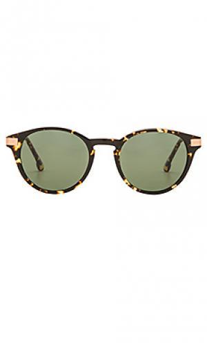 Солнцезащитные очки brentwood Steven Alan. Цвет: коричневый